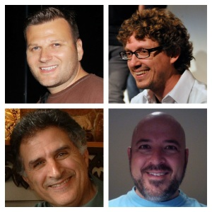 clockwise from top left: Mark Gura, Richard Carrier, Rob McQueary, and Jack Elias